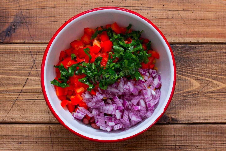 Салат монастырский с фасолью на зиму рецепт с фото пошагово - 1000.menu