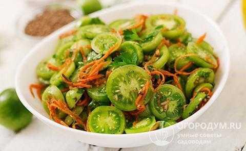 Зеленые помидоры по-корейски на зиму — самые вкусные рецепты, пальчики оближешь!