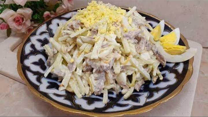 Салат из редьки с мясом и луком «узбекистан». рецепт с фото