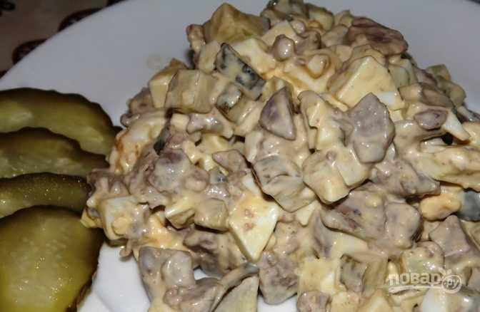 Охотничий салат с говядиной и соленым огурцом  Похожие салаты, комментарии, состав, советы, порядок приготовления, пошаговые фото