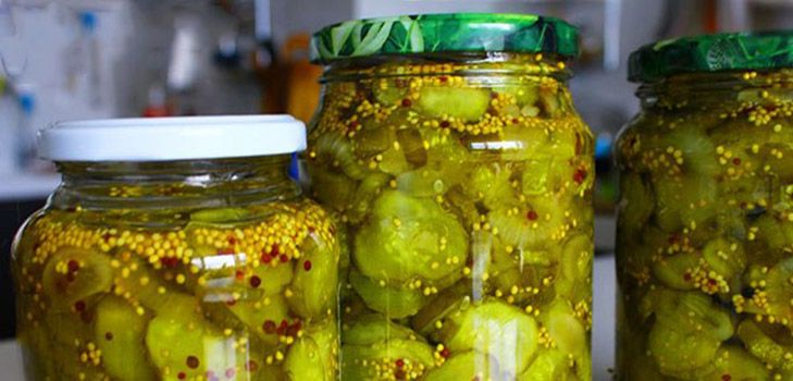 Маринованные огурцы с горчицей сухой или зернами на зиму