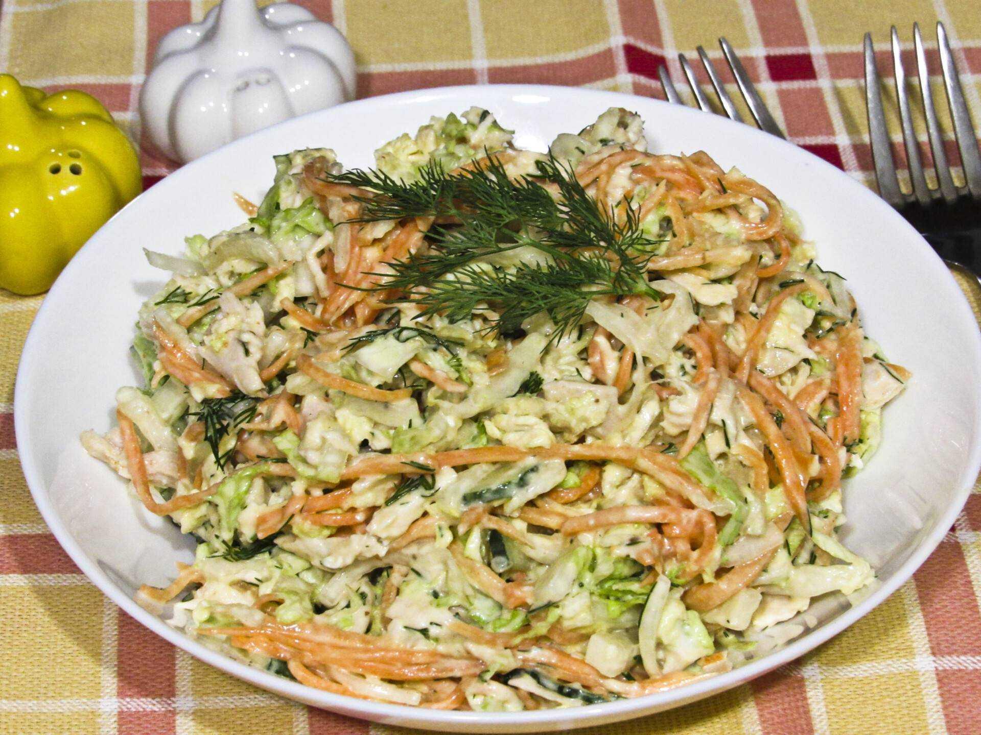 Салат с корейской морковью и ветчиной: лучшие рецепты