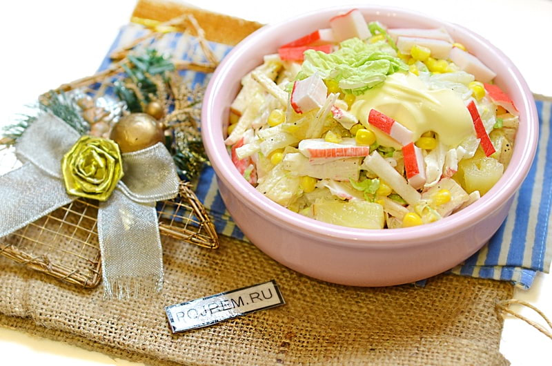 Салат из пекинской капусты с кукурузой рецепт с фото пошагово и видео - 1000.menu