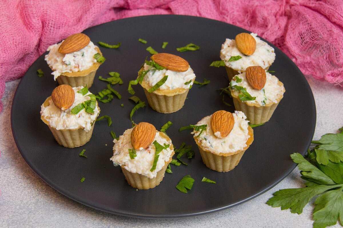 Тарталетки с морепродуктами: пошаговый рецепт с фото