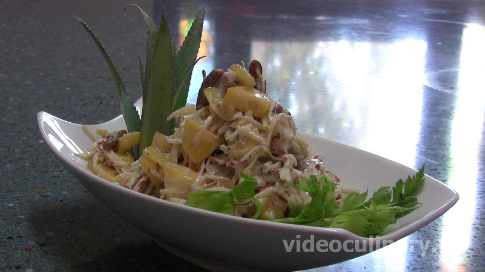 Салат вальдорф - изысканный деликатес для гурманов: рецепт с фото и видео