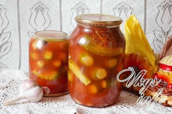 Огурцы с кетчупом чили и махеев на зиму в литровых банках: самый вкусный рецепт. обалденный рецепт с чесноком огурцов в кетчупе