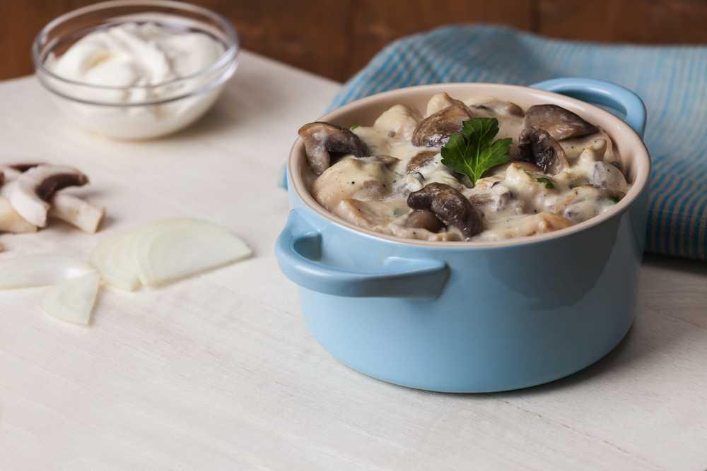 Белый грибной соус для рыбы — пошаговый рецепт с фото