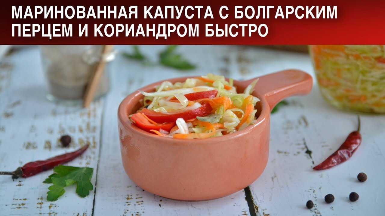 Маринованная капуста с болгарским перцем: рецепты приготовления заготовки на зиму.
