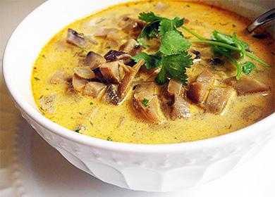 Грибной суп-пюре из замороженных грибов белых: рецепт и советы опытных хозяек