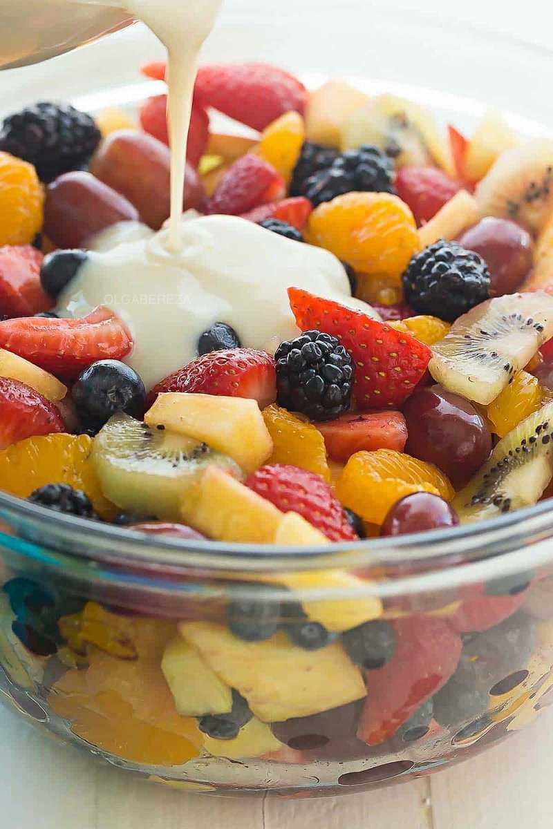 Фруктовый салат - 5 рецептов вкусных и простых