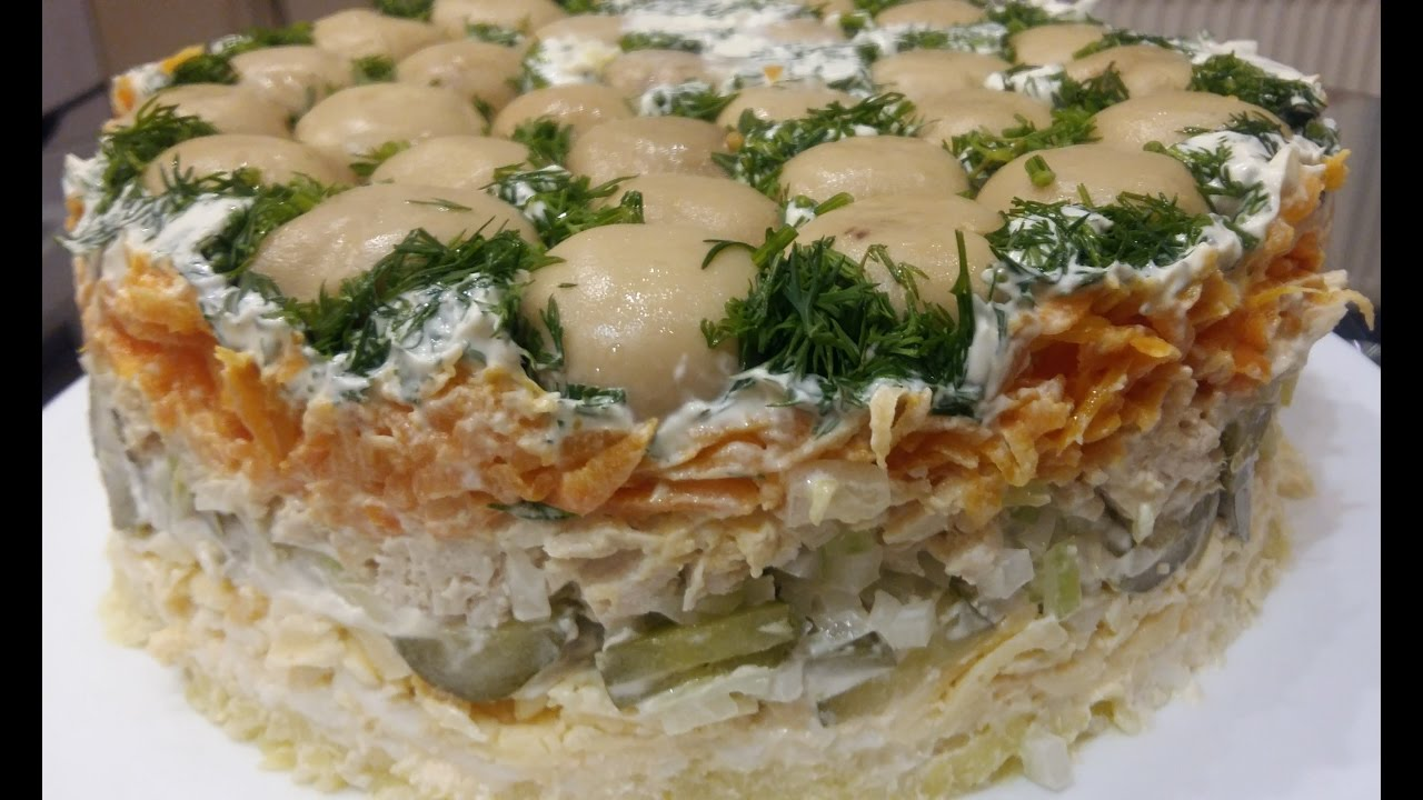 Салаты с лисичками » рецепты - готовим дома | «наобед.kz»