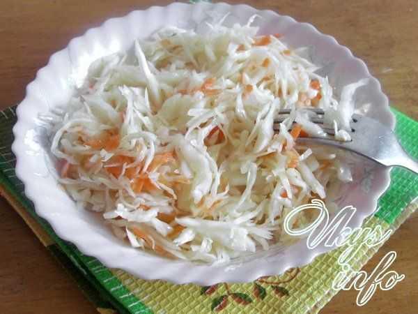 Квашеная капуста быстрого приготовления - вкусные рецепты хрустящей и сочной капусты