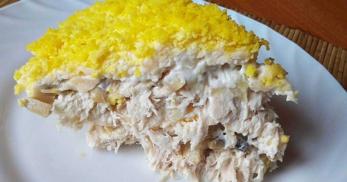 Салат с курицей и ананасом — 10 пошаговых рецептов