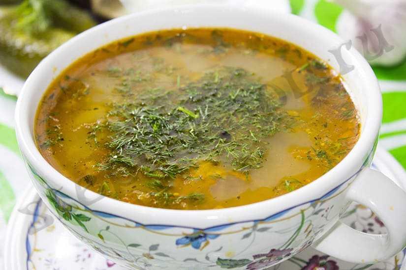 Рассольник с рисом и солеными огурцами - лучшие рецепты приготовления