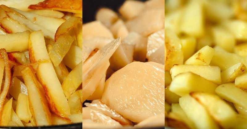 Как правильно пожарить картошку с луком на сковороде вкусно с корочкой