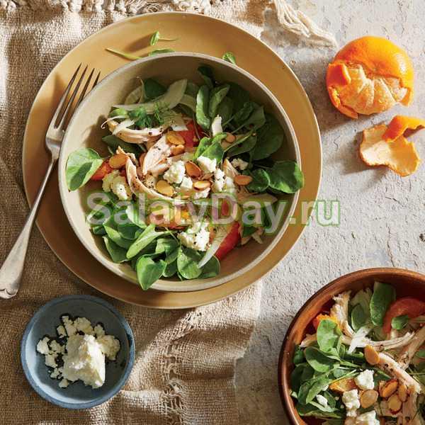 Салат с авокадо и курицей - не нуждается в заправке: рецепт с фото и видео