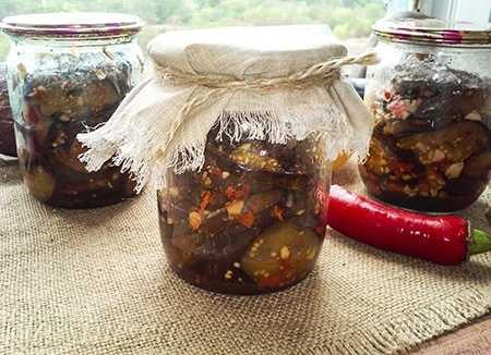 Жареные баклажаны на зиму с чесноком рецепт с фото пошагово и видео - 1000.menu