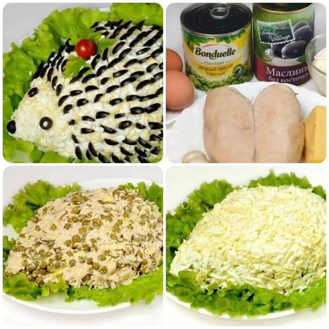 Салат ёжик - 36 рецептов: салаты   foodini