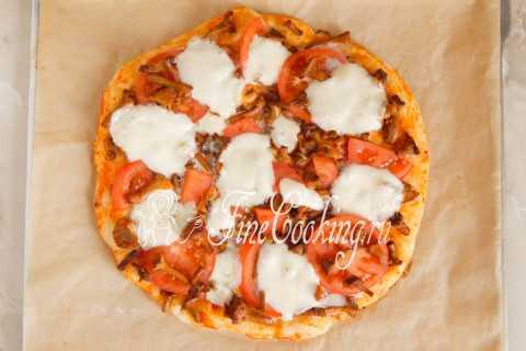 Пицца с лисичками - пошаговый рецепт приготовления с фото