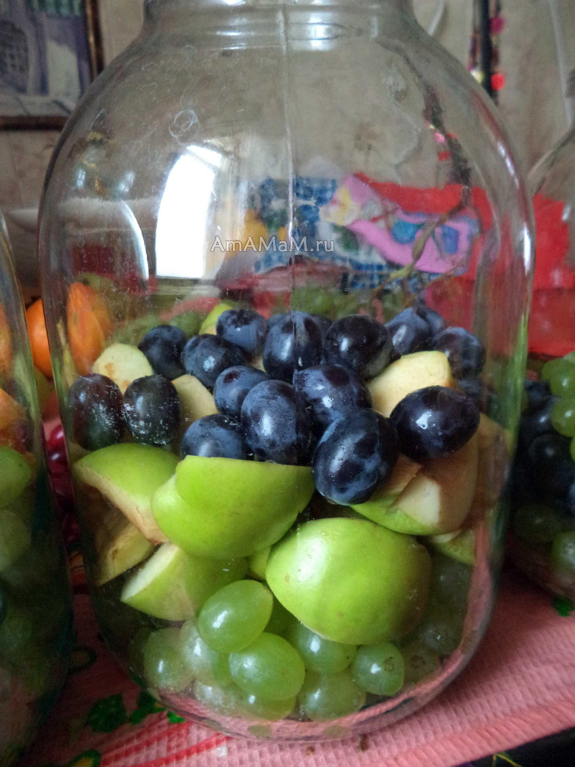 Компот из винограда на зиму: рецепты на 1-3 литровую банку с фото и видео