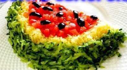 Варианты приготовления салата «арбузная долька»
