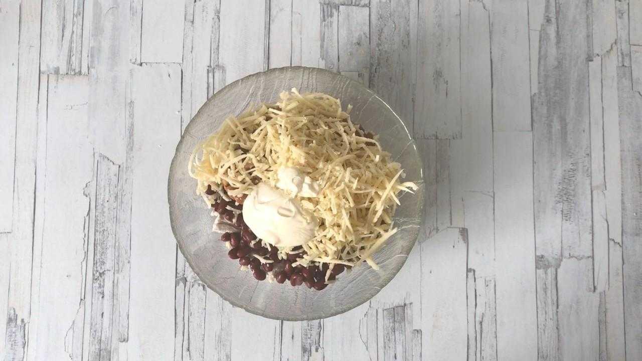 Салат грибы курица яйца сыр