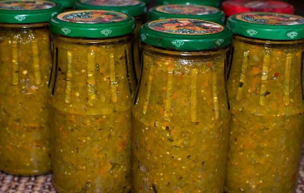 Икра из зеленых помидоров на зиму самые вкусные рецепты с фото