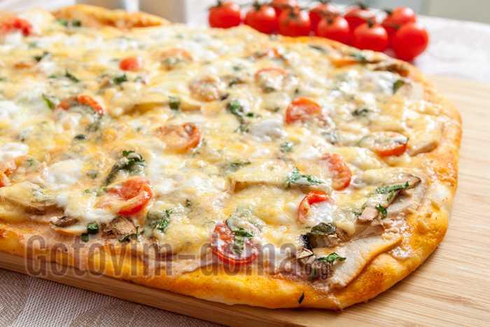 Пицца с лисичками - 14 пошаговых фото в рецепте