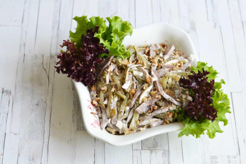 Салат с вареной говядиной и огурцом рецепт с фото пошагово - 1000.menu