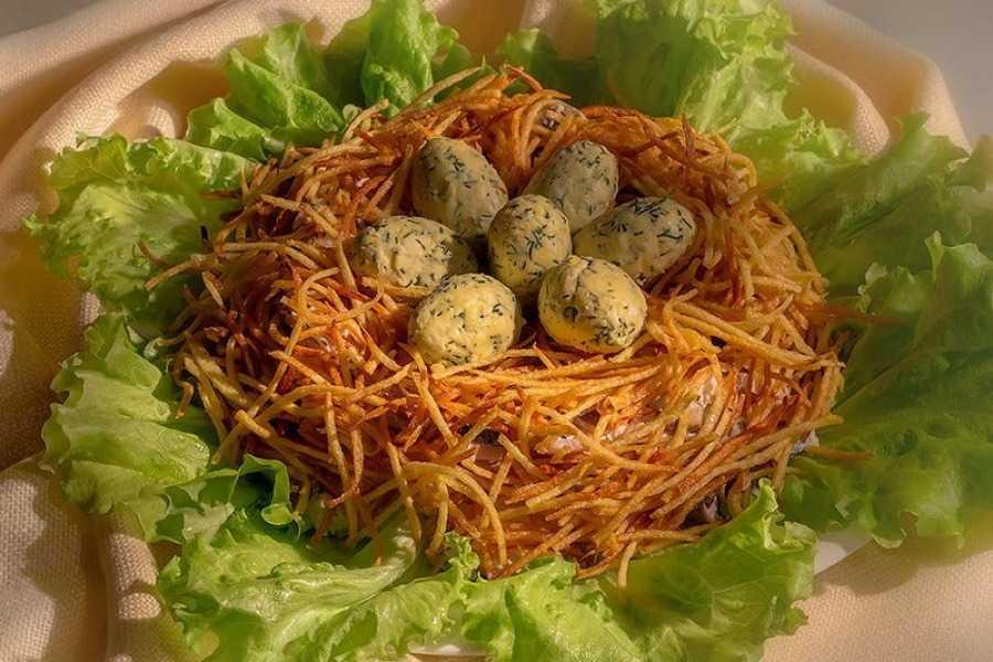 Гнездо перепёлки салат