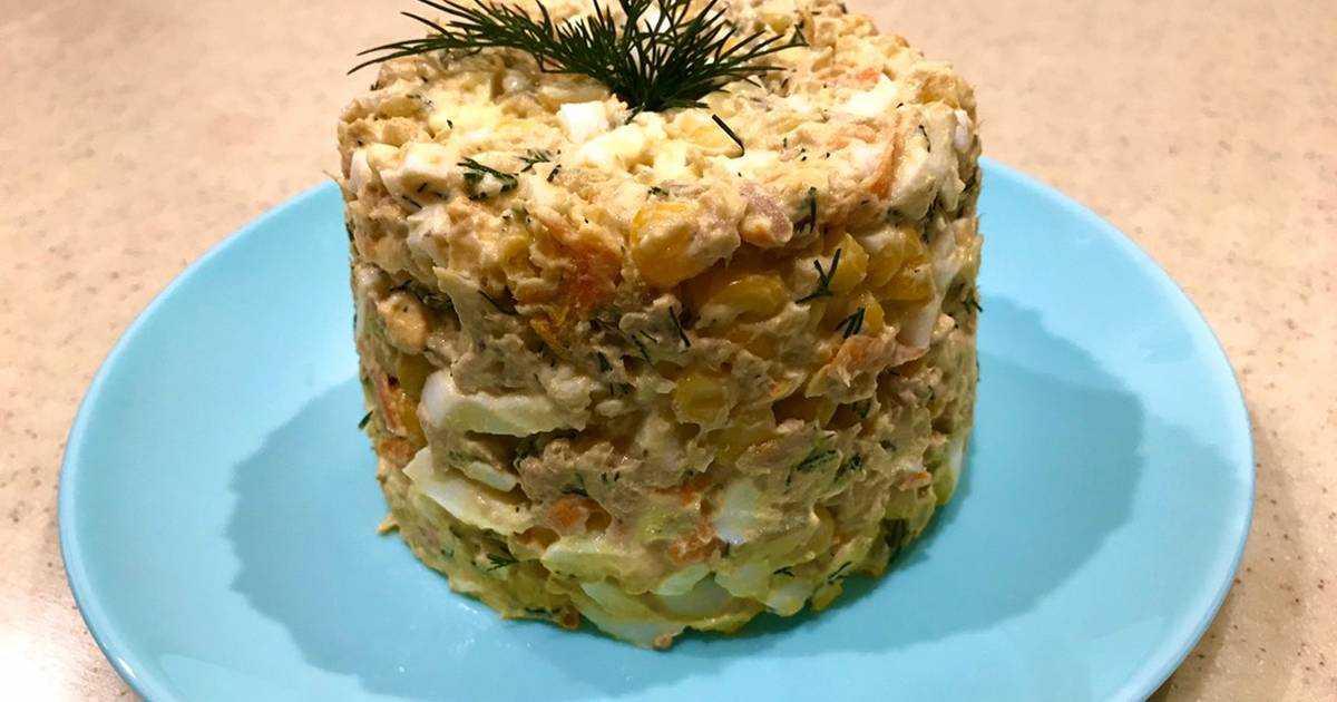 Салат с рыбными консервами и рисом пошаговый рецепт
