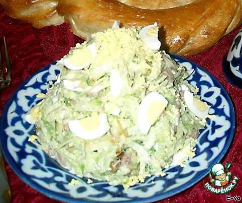 Пикантный салат «узбекистан» с мясом и зелёной редькой. пошаговый рецепт с фото — ботаничка.ru