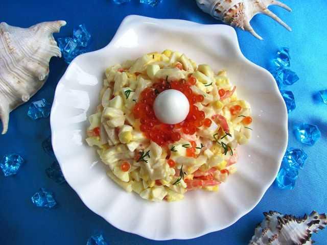 Салат «морское чудо» с креветками рецепт - бабушкины рецепты