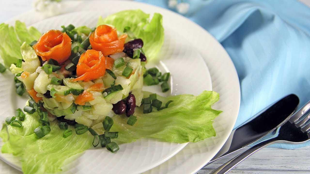 Топ-9 рецептов салата с лососем