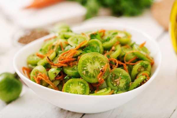 Зеленые помидоры по-корейски на зиму: рецепты приготовления салата с фото.