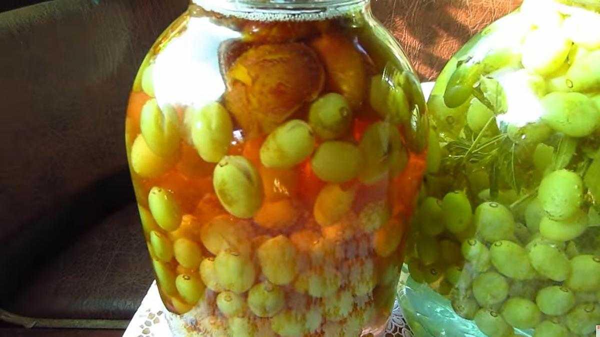 Компот из белого винограда на зиму: рецепты приготовления.