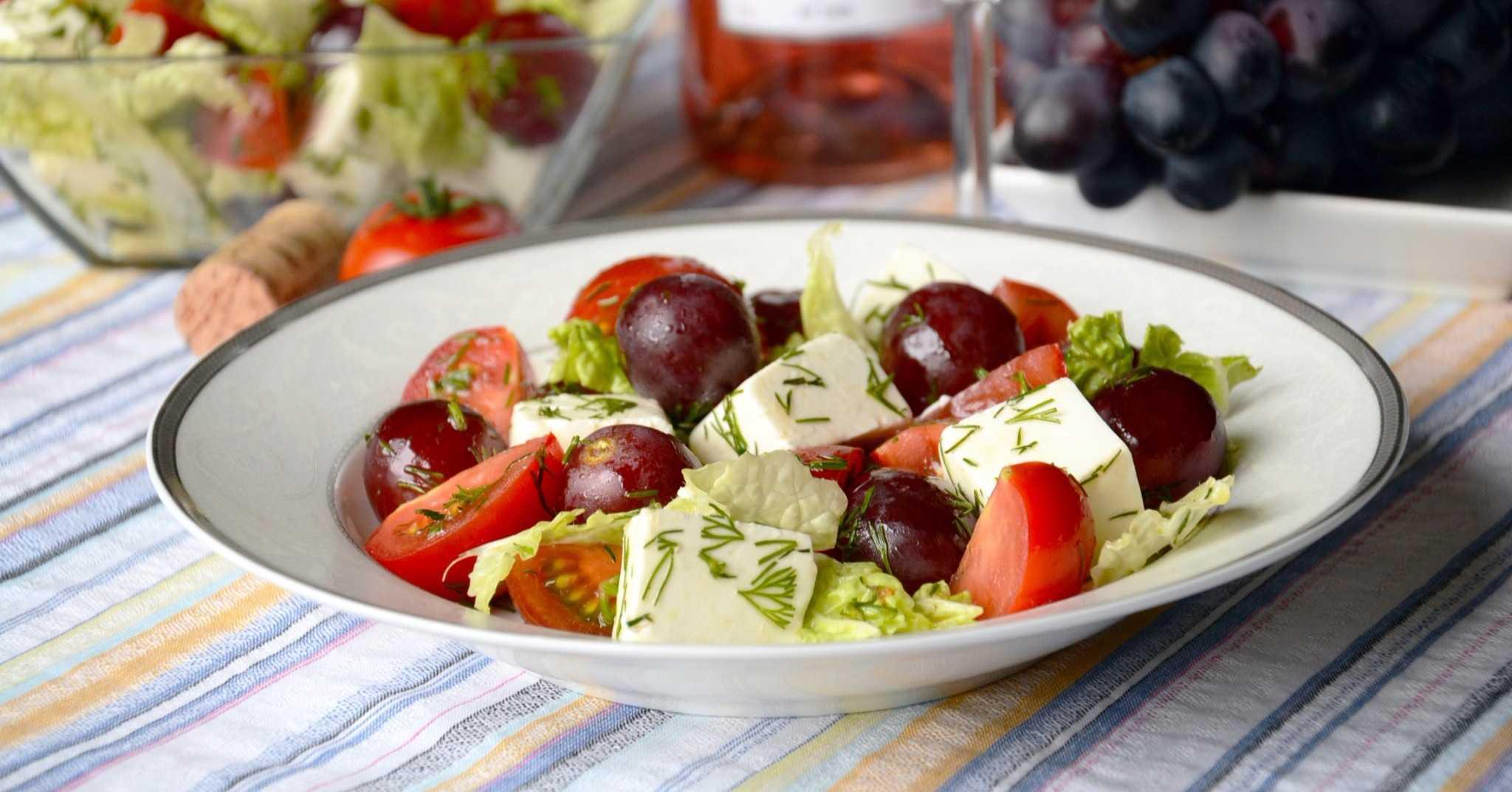 Салат с виноградом и курицей: рецепт с фото пошагово