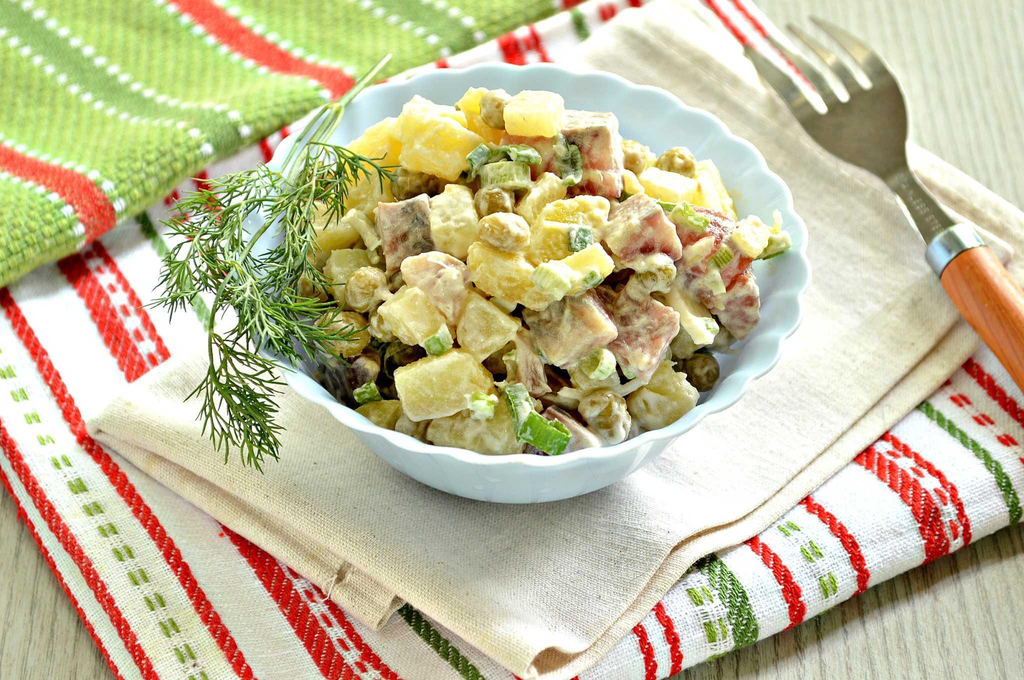 Салат «норвежский» с сельдью и свеклой, рецепт