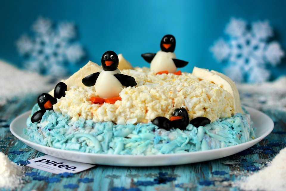 Закуска на новый год «пингвины» — 3 рецепта