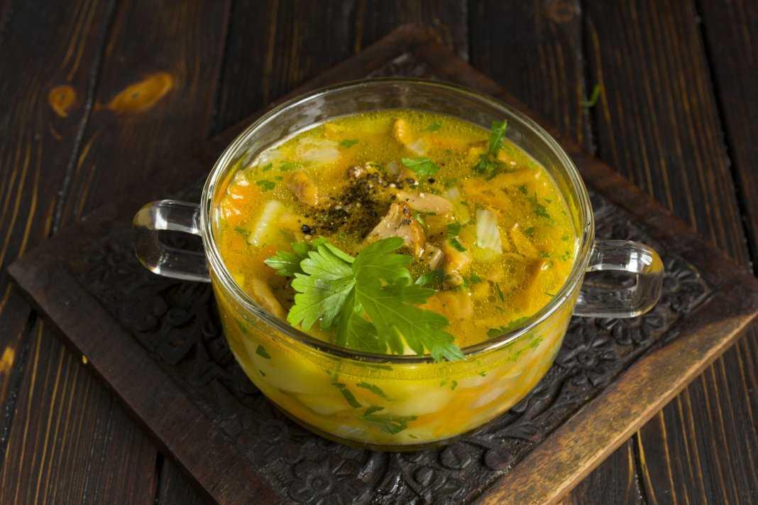 Грибной суп из сушеных лисичек рецепт