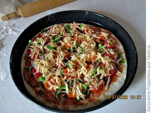 Пицца с лисичками