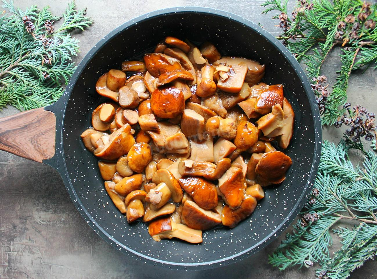 Маслята жареные с луком на сковороде рецепты с фото пошаговые фоторецепт.ru