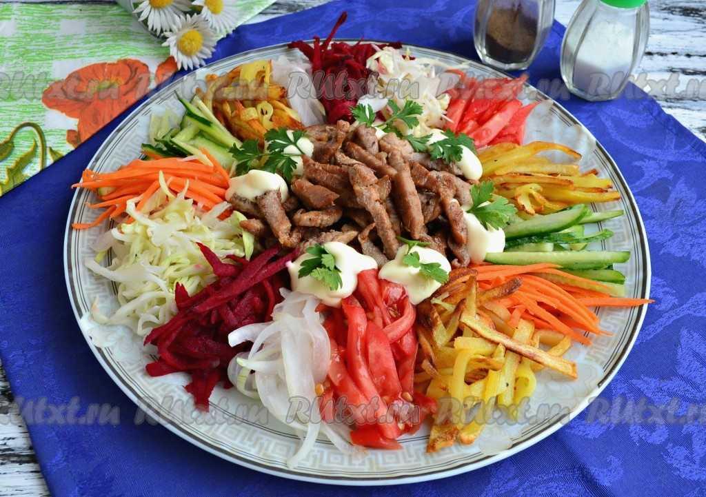 """Салат """"чафан"""" по простому  пошаговому рецепту с фото"""