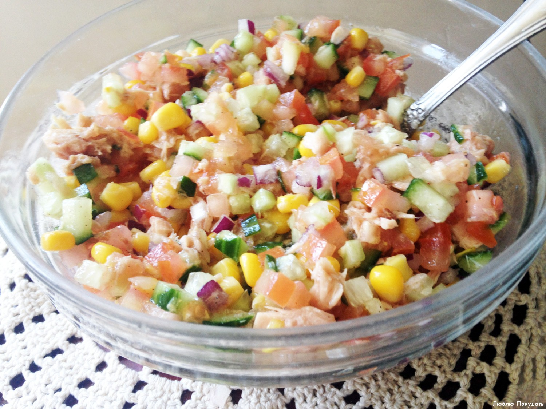 Салат с тунцом и кукурузой - полезно и питательно! рецепт с фото и видео