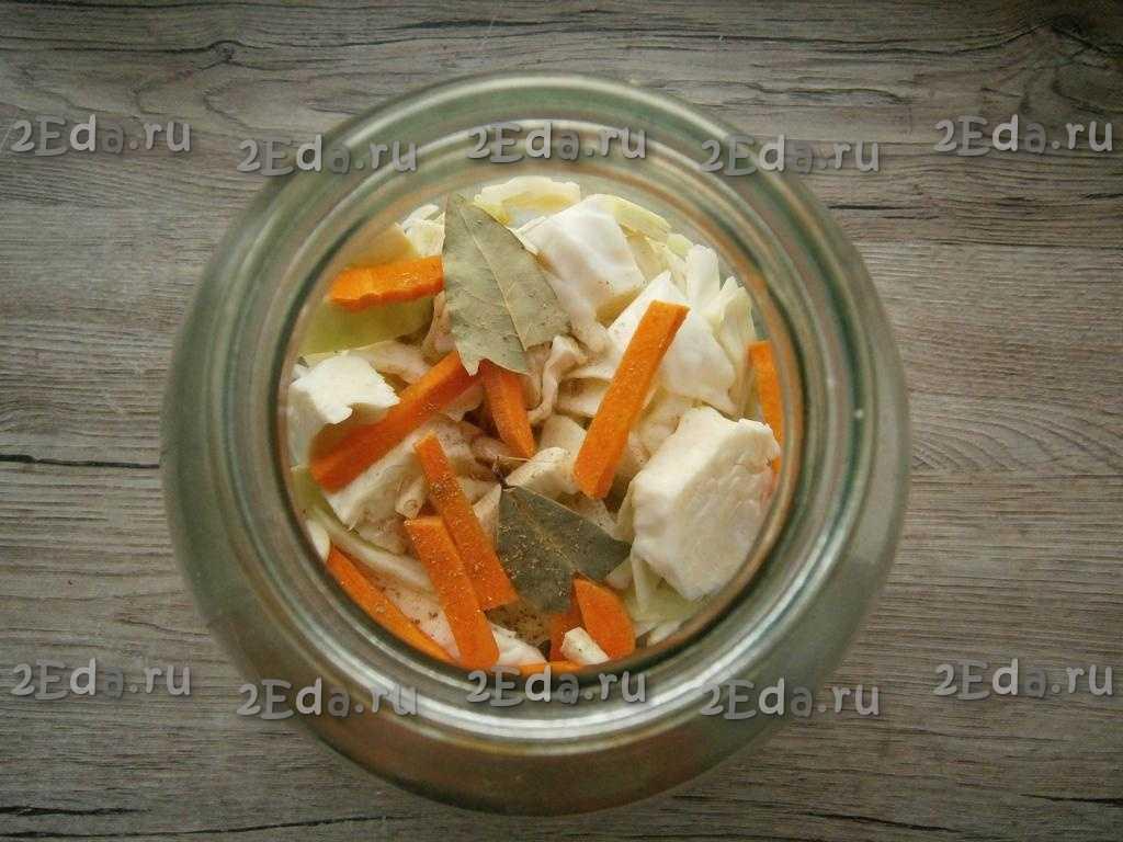 Маринованная капуста быстрого приготовления хрустящая и сочная