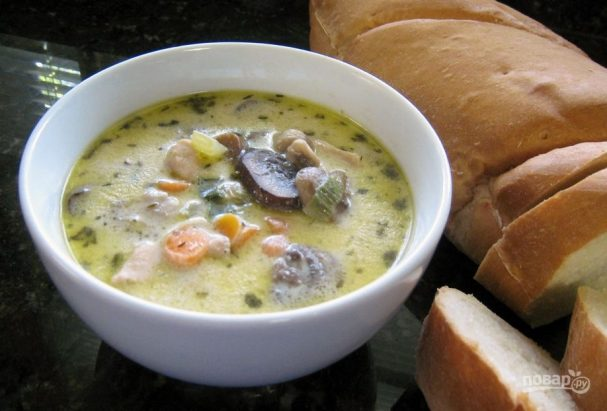 Суп пюре из шампиньонов и картофеля рецепт с фото - 1000.menu