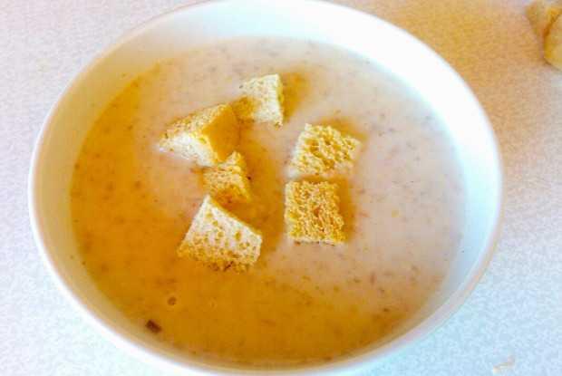 Грибной суп пюре из шампиньонов со сливками классический рецепт с фото пошагово и видео - 1000.menu