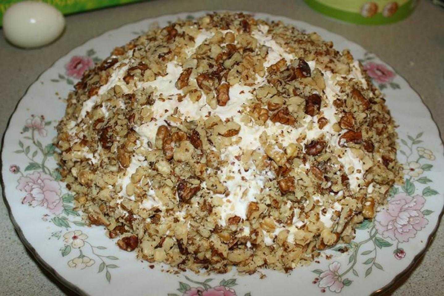 Салат «черепаха» с запеченной курицей — пошаговый рецепт с фото и видео