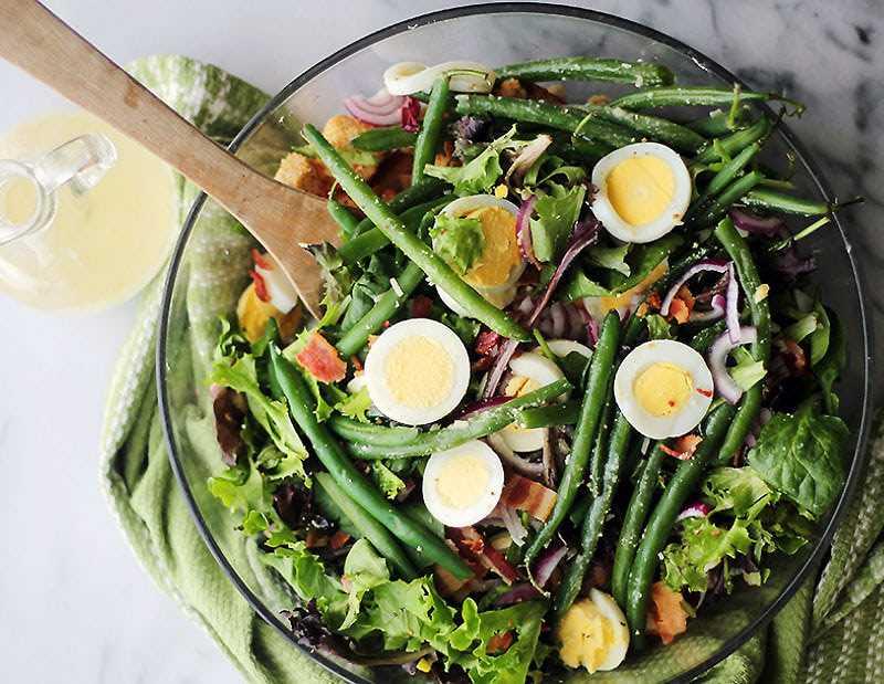 Рецепты салат из зеленой стручковой фасоли